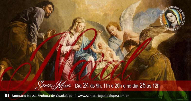 24 e 25/12 – Horários de Missas