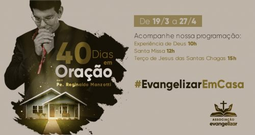 #EvangelizarEmCasa